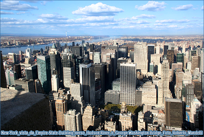 New York vista da Empire State Building verso Hudson River e George Washington Bridge Foto Roberto Mandelli